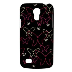 Pink Neon Butterflies Galaxy S4 Mini by Valentinaart