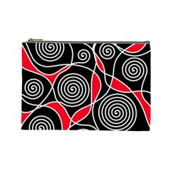 Hypnotic Design Cosmetic Bag (large)  by Valentinaart
