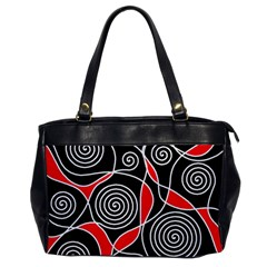 Hypnotic Design Office Handbags by Valentinaart