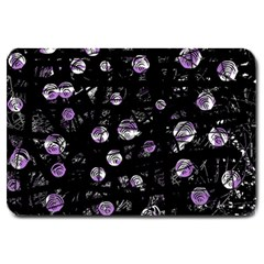 Purple Soul Large Doormat  by Valentinaart