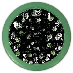 Green Soul  Color Wall Clocks by Valentinaart