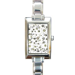 White And Yellow Soul Rectangle Italian Charm Watch by Valentinaart