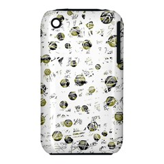 White And Yellow Soul Apple Iphone 3g/3gs Hardshell Case (pc+silicone) by Valentinaart