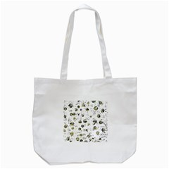 White And Yellow Soul Tote Bag (white) by Valentinaart