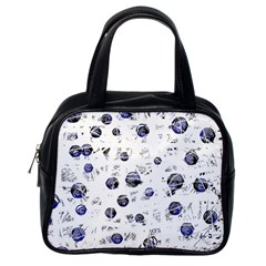 White And Deep Blue Soul Classic Handbags (one Side)