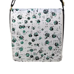 White And Green Soul Flap Messenger Bag (l)  by Valentinaart
