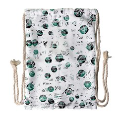 White And Green Soul Drawstring Bag (large) by Valentinaart