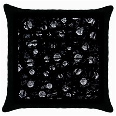 Black And Gray Soul Throw Pillow Case (black) by Valentinaart