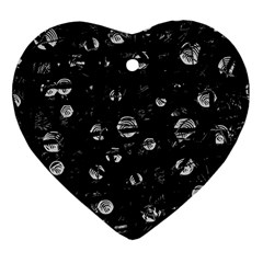 Black And Gray Soul Heart Ornament (2 Sides) by Valentinaart