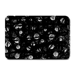 Black And Gray Soul Plate Mats by Valentinaart