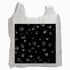 Black And Gray Soul Recycle Bag (two Side)  by Valentinaart