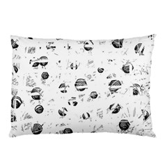 White And Gray Soul Pillow Case (two Sides) by Valentinaart
