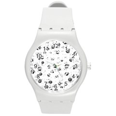 White And Gray Soul Round Plastic Sport Watch (m) by Valentinaart