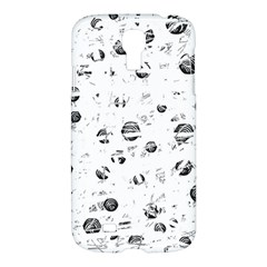White And Gray Soul Samsung Galaxy S4 I9500/i9505 Hardshell Case by Valentinaart