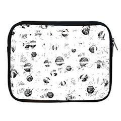 White And Gray Soul Apple Ipad 2/3/4 Zipper Cases by Valentinaart
