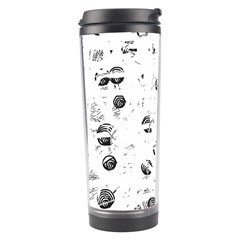 White And Gray Soul Travel Tumbler by Valentinaart