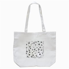 White And Gray Soul Tote Bag (white) by Valentinaart