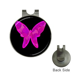 Purple Butterfly Hat Clips With Golf Markers by Valentinaart
