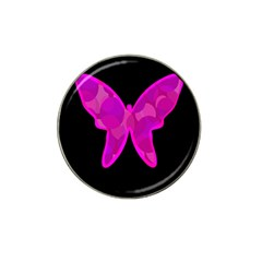 Purple Butterfly Hat Clip Ball Marker (4 Pack) by Valentinaart