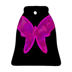 Purple Butterfly Bell Ornament (2 Sides) by Valentinaart
