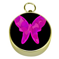 Purple Butterfly Gold Compasses