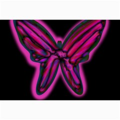 Purple Neon Butterfly Collage Prints by Valentinaart