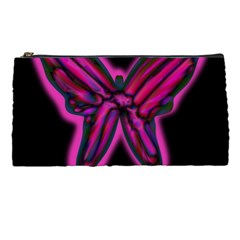 Purple Neon Butterfly Pencil Cases by Valentinaart