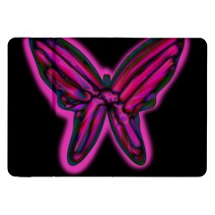 Purple Neon Butterfly Samsung Galaxy Tab 8 9  P7300 Flip Case by Valentinaart