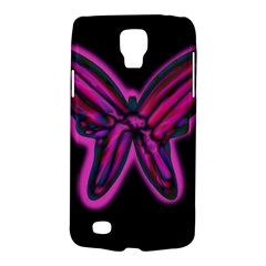 Purple Neon Butterfly Galaxy S4 Active by Valentinaart