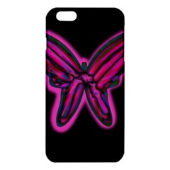 Purple Neon Butterfly Iphone 6 Plus/6s Plus Tpu Case by Valentinaart