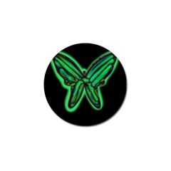 Green Neon Butterfly Golf Ball Marker (10 Pack) by Valentinaart