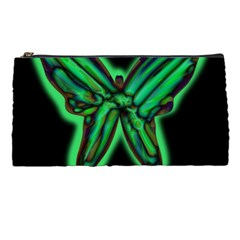 Green Neon Butterfly Pencil Cases by Valentinaart