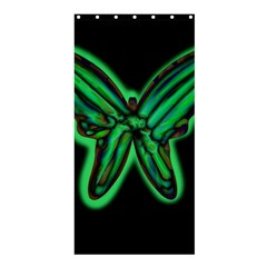 Green Neon Butterfly Shower Curtain 36  X 72  (stall)  by Valentinaart