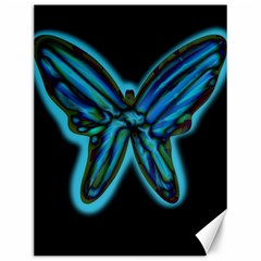 Blue Butterfly Canvas 12  X 16
