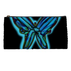 Blue Butterfly Pencil Cases by Valentinaart