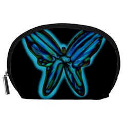 Blue Butterfly Accessory Pouches (large)  by Valentinaart
