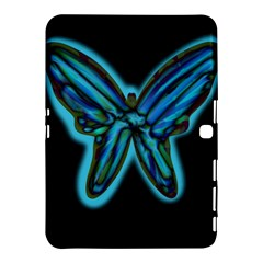 Blue Butterfly Samsung Galaxy Tab 4 (10 1 ) Hardshell Case  by Valentinaart
