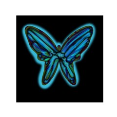 Blue Butterfly Small Satin Scarf (square)