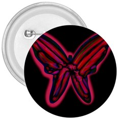 Red Butterfly 3  Buttons by Valentinaart