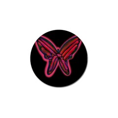 Red Butterfly Golf Ball Marker by Valentinaart