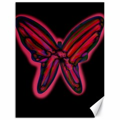 Red Butterfly Canvas 18  X 24   by Valentinaart