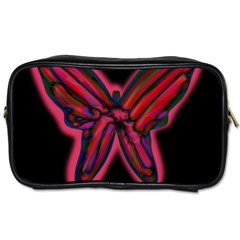 Red Butterfly Toiletries Bags by Valentinaart