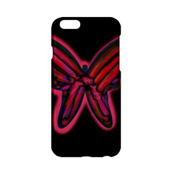 Red Butterfly Apple Iphone 6/6s Hardshell Case by Valentinaart