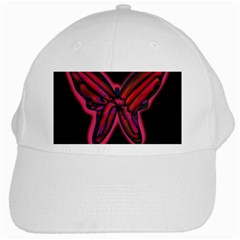 Red Butterfly White Cap