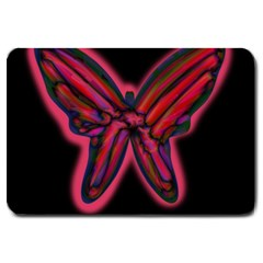 Red Butterfly Large Doormat