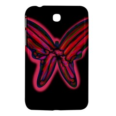 Red Butterfly Samsung Galaxy Tab 3 (7 ) P3200 Hardshell Case  by Valentinaart