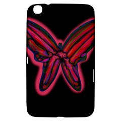 Red Butterfly Samsung Galaxy Tab 3 (8 ) T3100 Hardshell Case  by Valentinaart