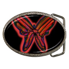 Red Butterfly Belt Buckles by Valentinaart