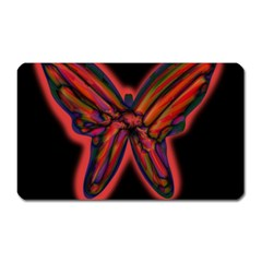 Red Butterfly Magnet (rectangular) by Valentinaart