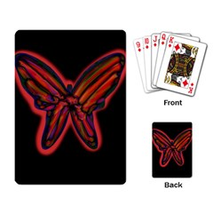 Red Butterfly Playing Card by Valentinaart